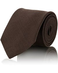 Petronius - Men's Solid Slub-weave Necktie - Lyst