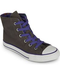 Converse Fold-over High-top Trainers 7-11 Years - Lyst