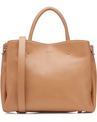 Repetto Leather Tote beige - Lyst