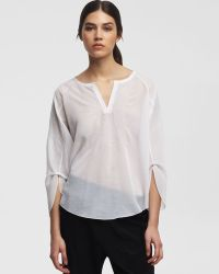 Kenneth Cole Gemma Peasant Blouse - Lyst