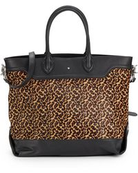 Ash Smith Leopard-Print Calf Hair & Leather Tote Bag - Lyst