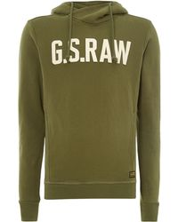 G-star Raw Hooded Sweatshirt - Lyst