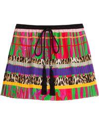 Roberto Cavalli Printed Silk Skirt - Lyst