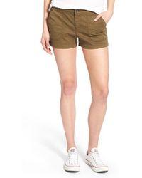 Hinge - Cotton Blend Cargo Shorts - Lyst