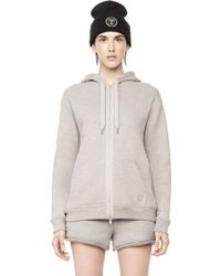 Alexander Wang French Terry Hoodie gray - Lyst
