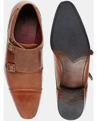 ASOS - Double Monk Shoes In Leather - Lyst