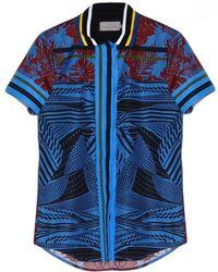 Preen Adamu Shirt blue - Lyst