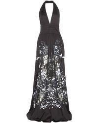 Roberto Cavalli Printed Halter-neck Dress - Lyst