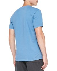 James Perse Combed Cotton Vneck Tee - Lyst