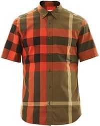 Burberry Brit - Fred Check Short Sleeve Shirt - Lyst