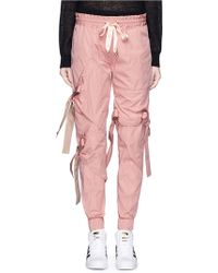 Nicopanda - Satin Ribbon Tie Deconstructed Sweatpants - Lyst
