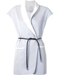 3.1 Phillip Lim Sleeveless Belted Jacket - Lyst