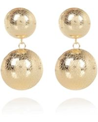 River Island Gold Tone Double Disc Dangle Earrings - Lyst