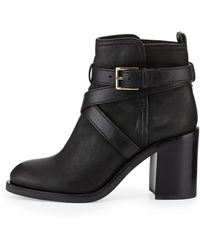 Tory Burch Hastings Crossstrap Leather Bootie - Lyst
