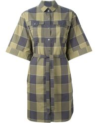Burberry Brit Check Print Shirt Dress - Lyst