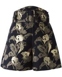 Carven Jacquard Shorts - Lyst