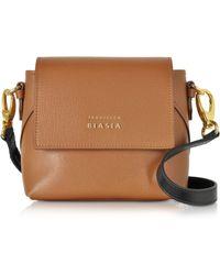 7905d7396d Francesco Biasia - Lucille Saffiano Leather Two-tone Crossbody Bag - Lyst