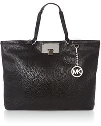 Michael Kors Channing Black Large Tote Bag - Lyst