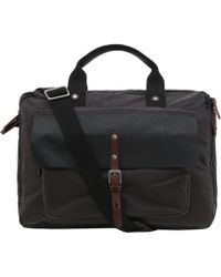 Ally Capellino - Charcoal Isaac Waxed Cotton Laptop Bag - Lyst