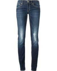Dondup Distressed Slim Jeans - Lyst