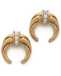 Rachel Zoe - Safari Mini Crescent Stud Earrings - Lyst