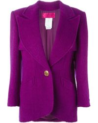 Christian Lacroix - Single Gold-tone Button Fastening Jacket - Lyst