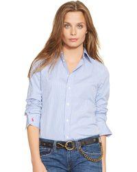 Polo Ralph Lauren Custom-fit Striped Shirt - Lyst