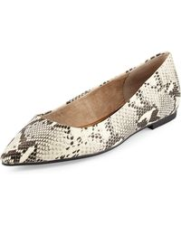 Seychelles Wellknown Snake-embossed Leather Flat - Lyst