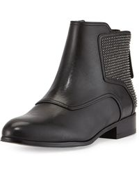 Pour La Victoire Keon Smooth Leather Ankle Boot - Lyst