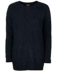 Topshop Grungy Lofty Ribbed Sweater - Lyst