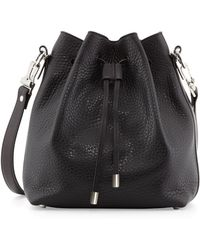 Proenza Schouler Pebbled Bucket Shoulder Bag Black - Lyst