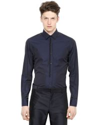 Lanvin Cotton Poplin Shirt With Piping Detail - Lyst