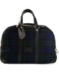 Golden Goose Deluxe Brand Tartan Pattern Holdall Bag - Lyst