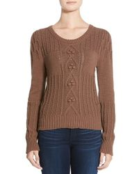 Plenty by Tracy Reese - Cable Knit Sweater - Lyst