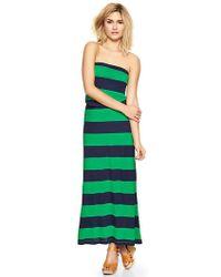 Gap Stripe Strapless Maxi Dress - Lyst