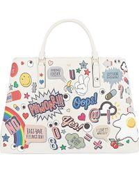 Anya Hindmarch Ebury Maxi Featherweight Stickers Tote - For Women white - Lyst
