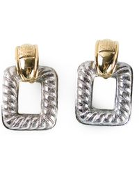 Givenchy Vintage Two Tone Earrings - Lyst