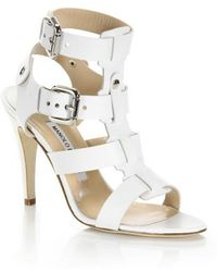 Manolo Blahnik | Leather Buckle Sandals | Lyst