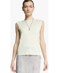 Halston Back Drape Knit Top - Lyst