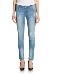 Kensie Distress Ankle Jeans - Lyst
