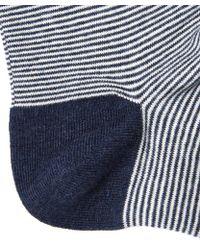 Nudie Jeans - Blue Mini Stripe Socks - Lyst