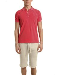 V::room Short Sleeve Pique Polo In Fade Red red - Lyst
