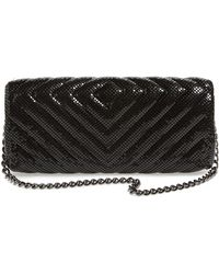 Whiting & Davis Quilted Chevron Clutch - Lyst
