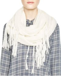DKNY - Pure Fringe Infinity Scarf - Lyst