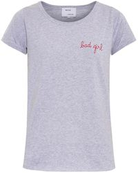 Maison Labiche Bad Girl-Embroidered T-Shirt - Lyst