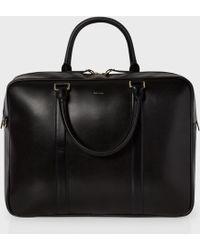 Paul smith Men's Black 'city Embossed' Leather Weekend Bag in ...