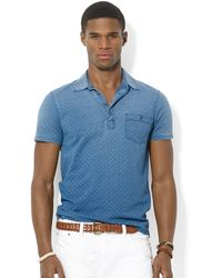 Ralph Lauren Polo Diamondprint Jersey Polo - Lyst
