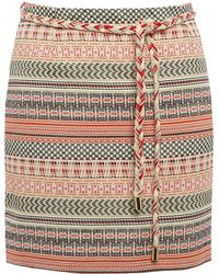 Sessun - Red Melo Aztec Jacquard Skirt - Lyst