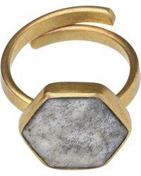 Whistles - Made Bone Hexagon Ring - Lyst