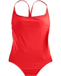 J.Crew Cross-Back One-Piece Swimsuit red - Lyst